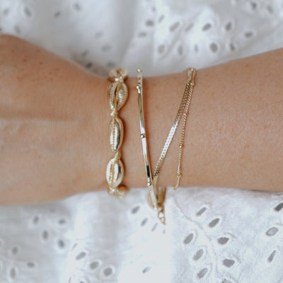 Metal Beaded Open Bangle