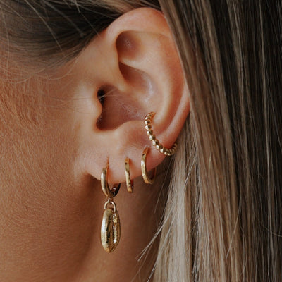 Beaded Metal Ear Cuff