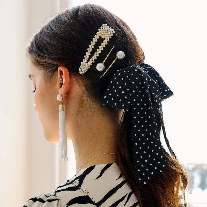 Large Pearl Snap Hair Clip