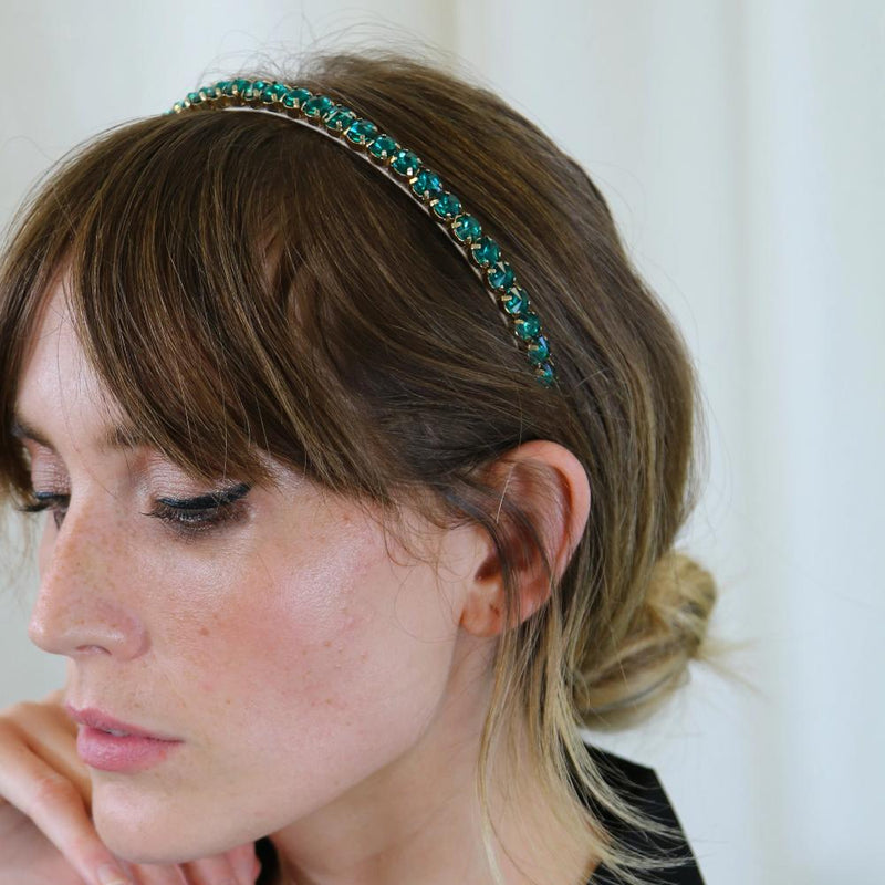 Emerald Crystal Stone Hairband