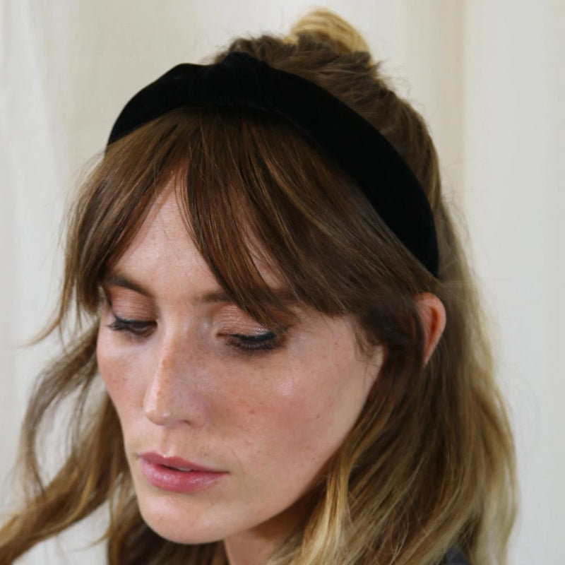 Velvet Knot Headband - Black