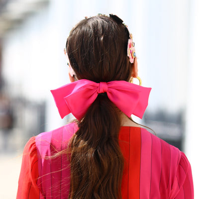 Large Fuchsia Hair Bow