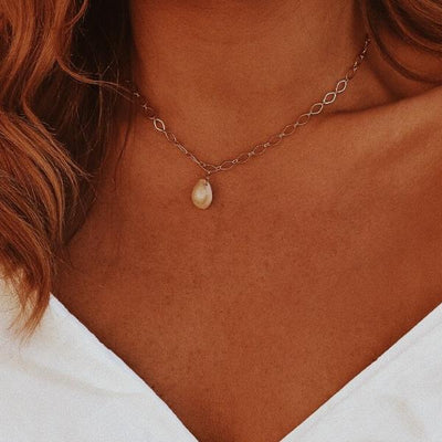 Cowrie Shell Chain Necklace