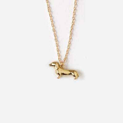 Lucky Dachshund Ditsy Necklace