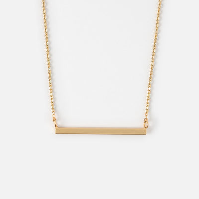 Gold Plated Horizontal Bar Necklace