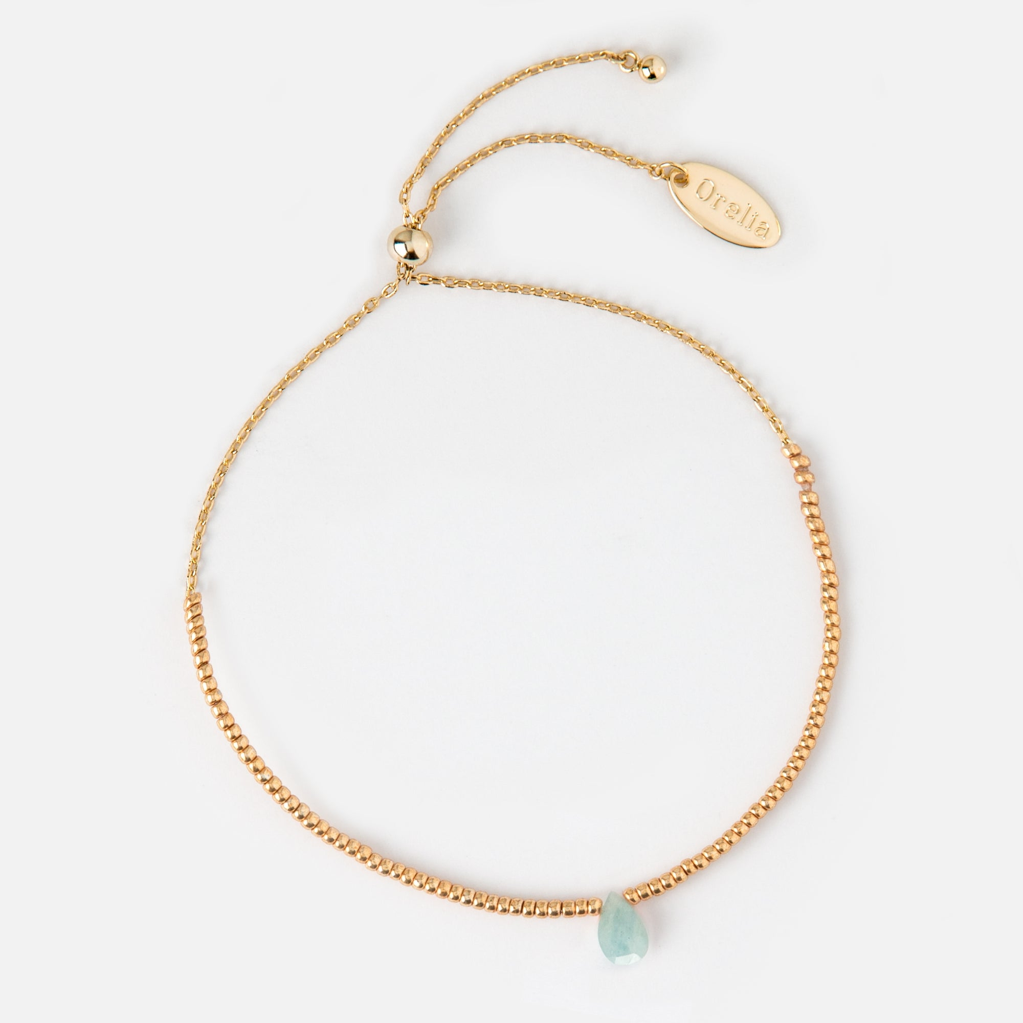 tw white bracelet in aquamarine gold