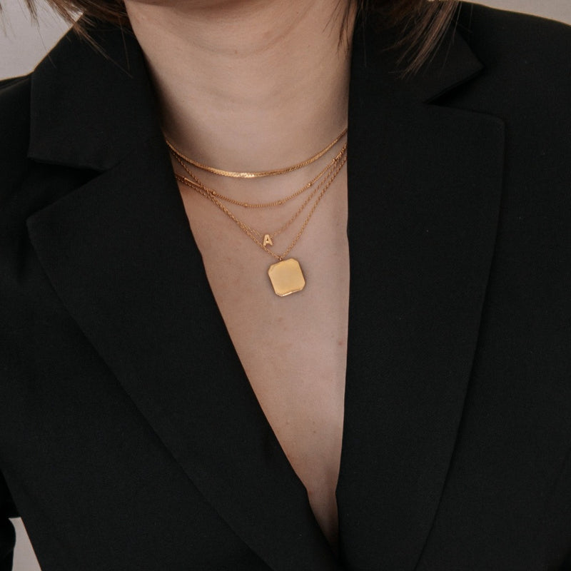 Square Disc Necklace
