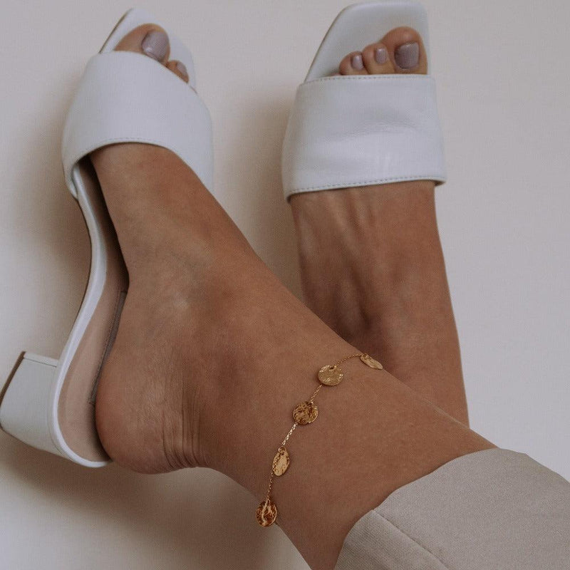 Multi Coin Drop Anklet
