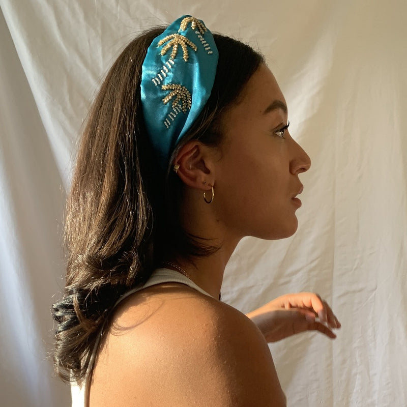 Palm Tree Sequin Headband