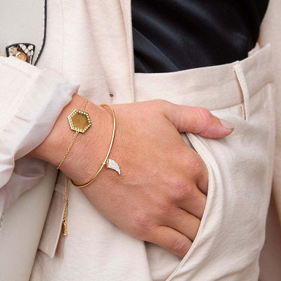 LUXE Hexagon Slider Bracelet