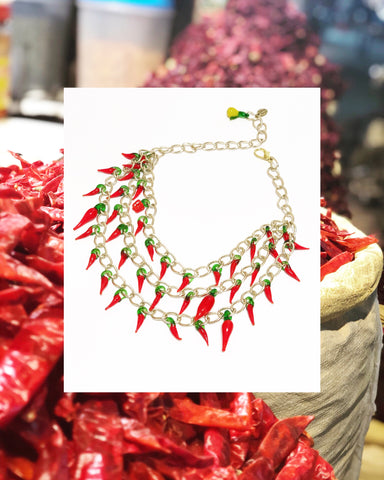 Hot Summer Chili Necklace
