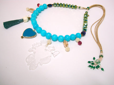 Love India Blue Necklace