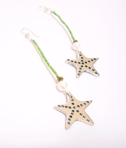 Long Starfish Sea World Earrings