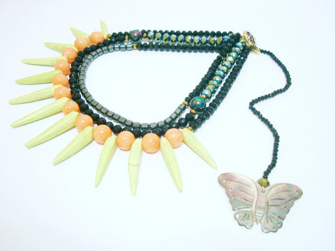 Signature Beaded Butterfly Necklace - Riddhika Jesrani