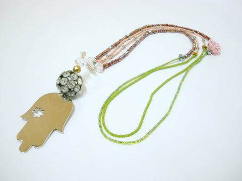 Two Strand Hamsa Necklace