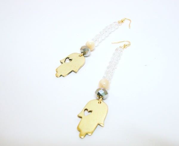 Transparent Hamsa Earrings