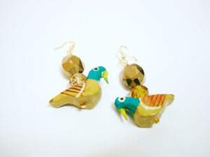 Yellow Birdie Earrings