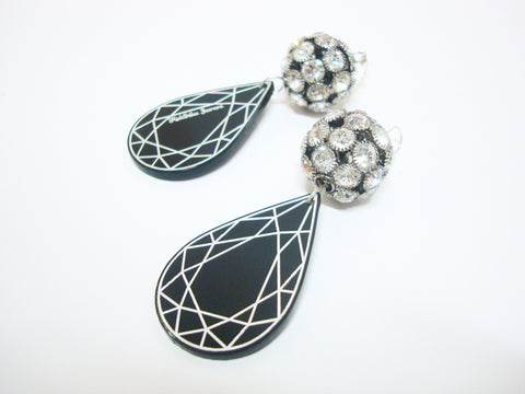 Disco Black Drop Earrings
