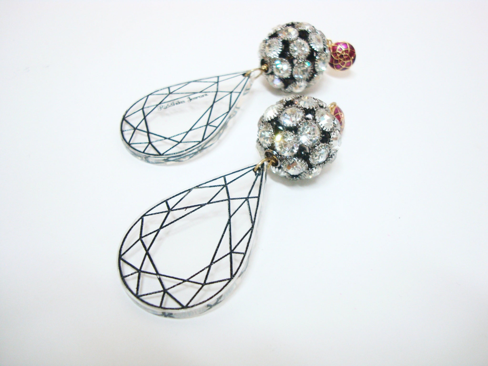 Disco Transparent Drop Earrings