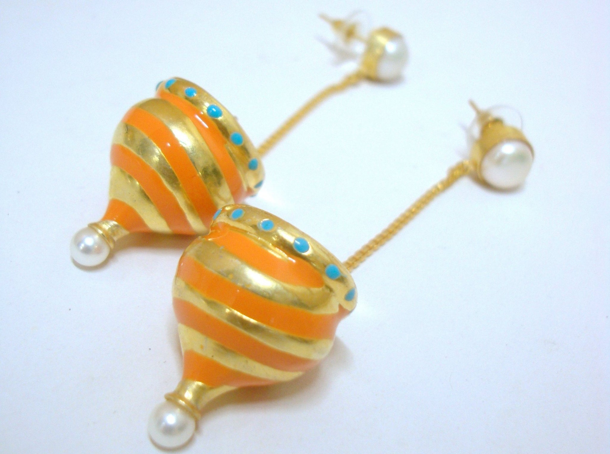 Casa Mila Orange Dome Earrings - Riddhika Jesrani