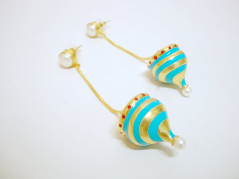 Casa Mila Blue Dome Earrings - Riddhika Jesrani