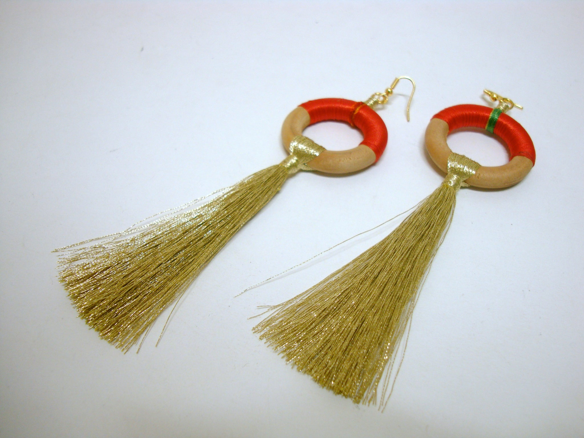 Fun Orange Tassel Earrings - Riddhika Jesrani
