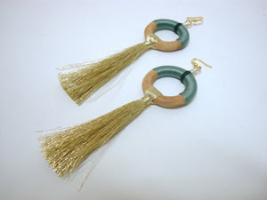 Fun Grey Tassel Earrings