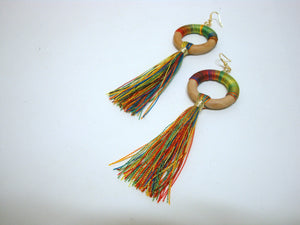 Fun Multi-Colored Tassel Earrings