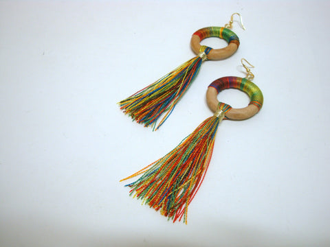 Fun Multi-Colored Tassel Earrings - Riddhika Jesrani