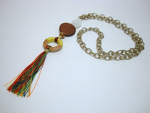 Fun and Games tassel Multi-Colored Chain