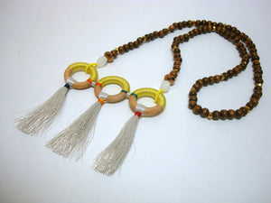 Three Loop and Tassel Summer Necklace - Riddhika Jesrani