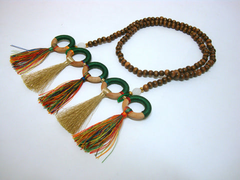 Five Loop and Tassel Summer Necklace