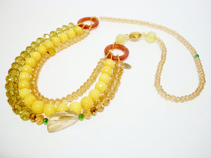 Signature Beaded Sunny Yellow Necklace - Riddhika Jesrani