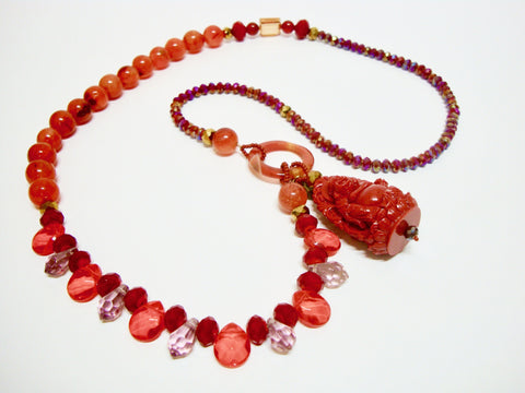 Signature Beaded Happy Buddha Necklace - Riddhika Jesrani