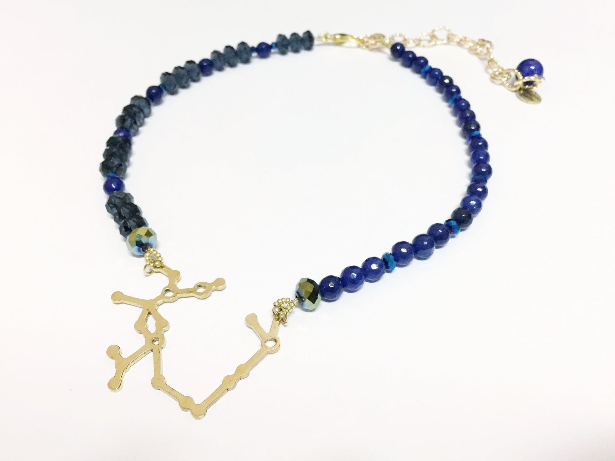 Blue One-Of-A-Kind Sagittarius Necklace
