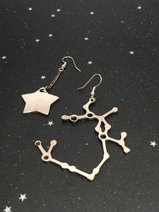 Silver Star 'SAGITTARIUS' Earrings - Riddhika Jesrani