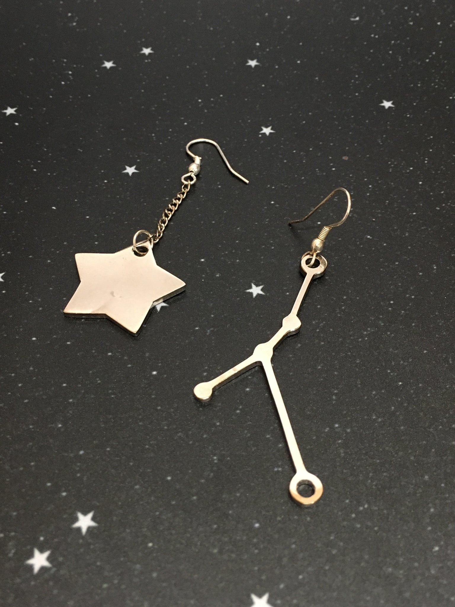 Silver Star 'CANCER' Earrings - Riddhika Jesrani