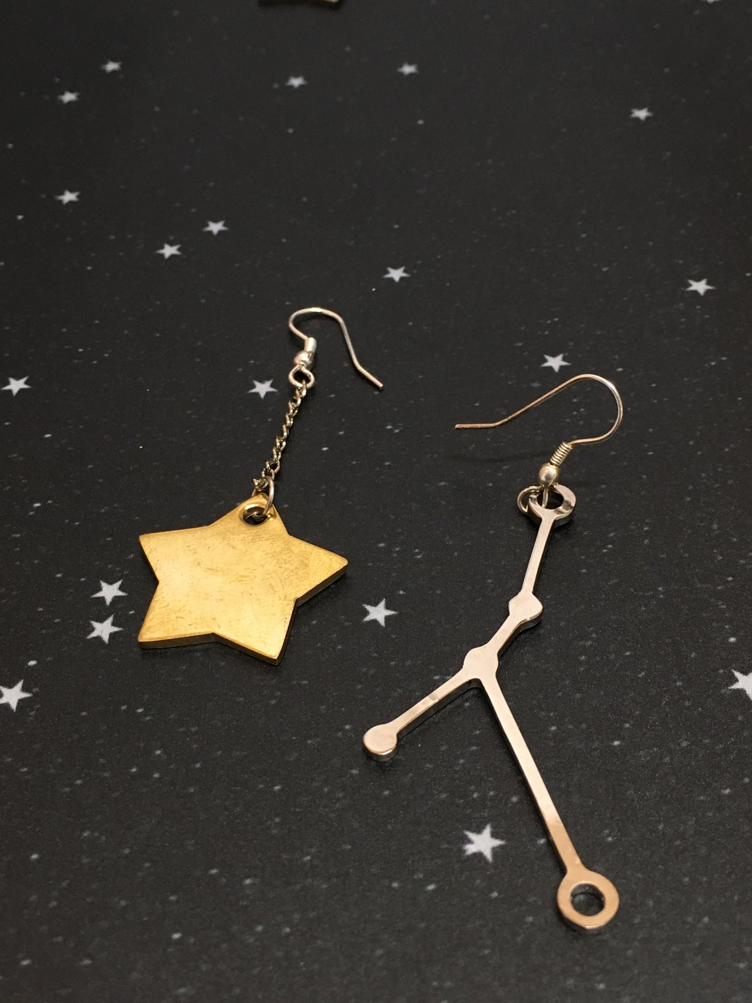 Gold Star 'CANCER' Earrings - Riddhika Jesrani