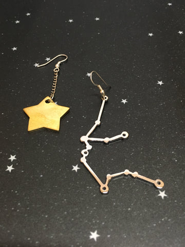 Gold Star 'AQUARIUS' Earrings - Riddhika Jesrani