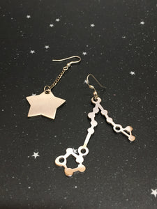 Silver Star 'PISCES' Earrings - Riddhika Jesrani