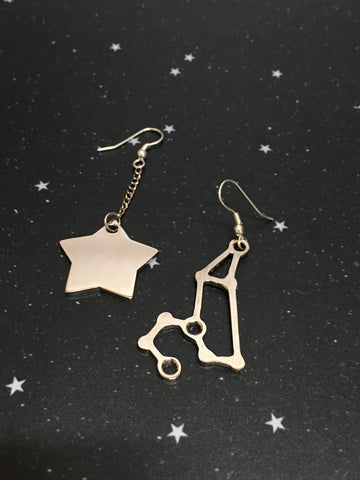 Silver Star 'LEO' Earrings - Riddhika Jesrani