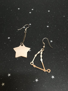 Silver Star 'CAPRICORN' Earrings - Riddhika Jesrani