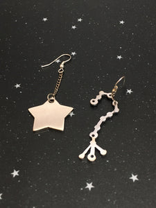 Silver Star 'SCORPIO' Earrings - Riddhika Jesrani