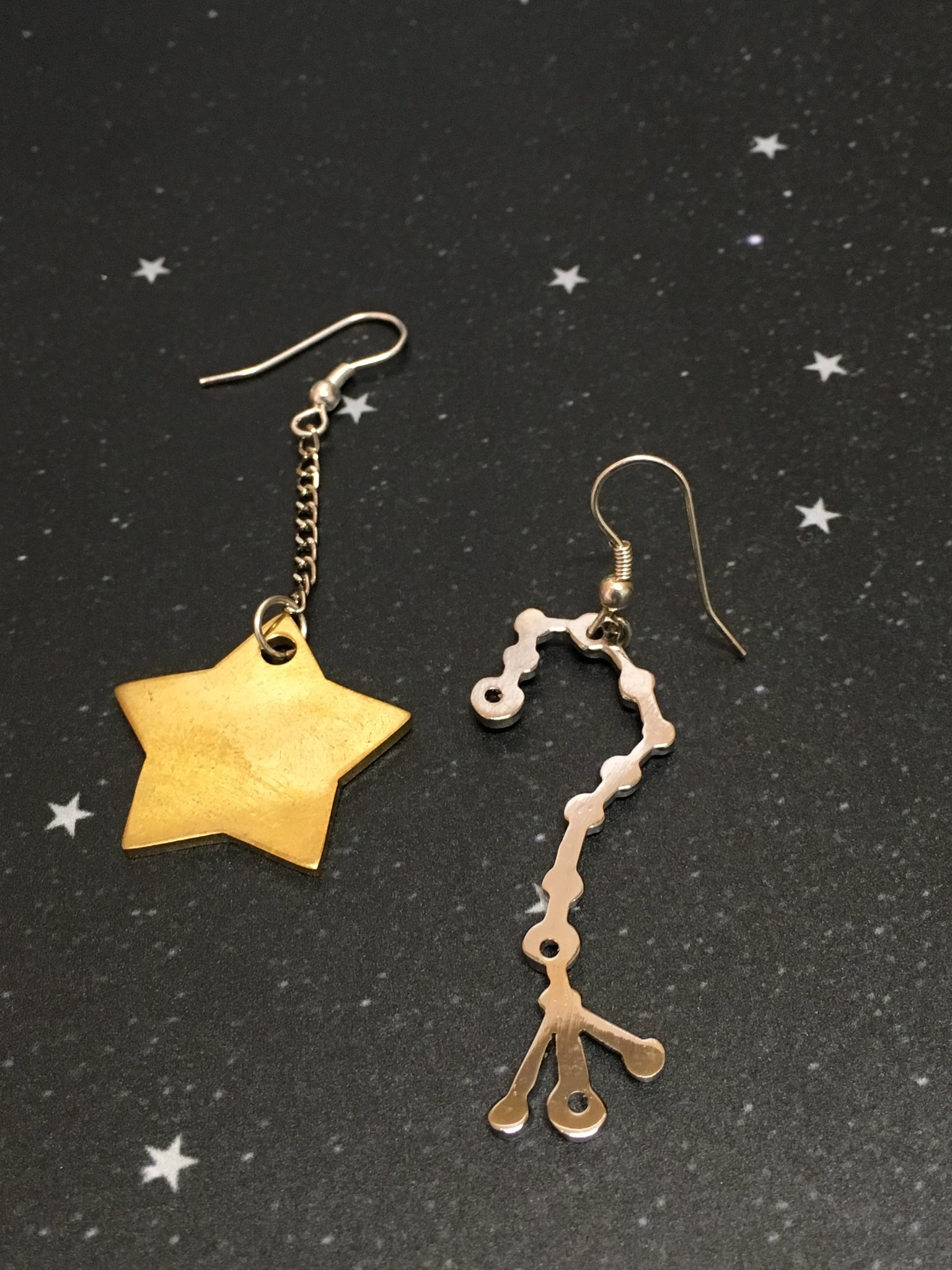 Gold Star 'SCORPIO' Earrings - Riddhika Jesrani