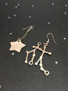 Silver Star 'GEMINI' Earrings - Riddhika Jesrani