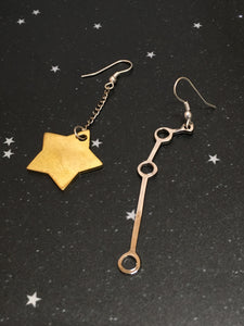 Gold Star 'ARIES' Earrings - Riddhika Jesrani