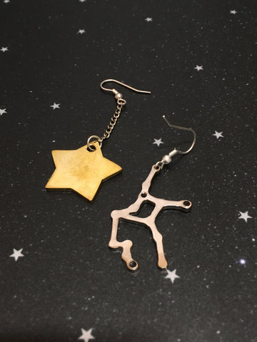 Gold Star  'VIRGO' Earrings - Riddhika Jesrani