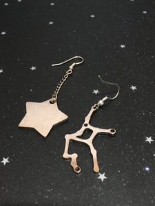 Silver Star 'VIRGO' Earrings - Riddhika Jesrani