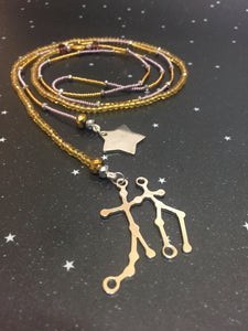 Long Open 'GEMINI' Necklace with Star - Riddhika Jesrani