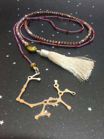 Long Open 'SAGITTARIUS' Necklace with Tassel - Riddhika Jesrani